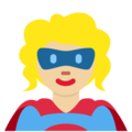 Woman Superhero: Medium-Light Skin Tone on Twitter Twemoji 12.1.4