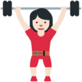 Woman Lifting Weights: Light Skin Tone on Twitter Twemoji 12.1.4