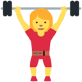 Woman Lifting Weights on Twitter Twemoji 12.1.4