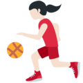 Woman Bouncing Ball: Light Skin Tone on Twitter Twemoji 12.1.4