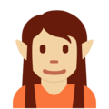 Elf: Medium-Light Skin Tone on Twitter Twemoji 12.1.5