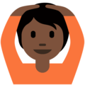 Person Gesturing OK: Dark Skin Tone on Twitter Twemoji 12.1.5