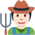 Farmer: Light Skin Tone on Twitter Twemoji 12.1.5