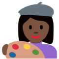 Woman Artist: Dark Skin Tone on Twitter Twemoji 12.1.5