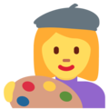 Woman Artist on Twitter Twemoji 12.1.5