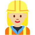 Woman Construction Worker: Medium-Light Skin Tone on Twitter Twemoji 12.1.5
