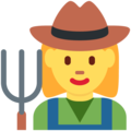 Woman Farmer on Twitter Twemoji 12.1.5