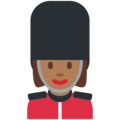 Woman Guard: Medium-Dark Skin Tone on Twitter Twemoji 12.1.5