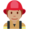 Firefighter: Medium Skin Tone on Twitter Twemoji 12.1.5