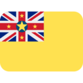 Flag: Niue on Twitter Twemoji 12.1.5