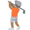 Person Golfing: Medium-Dark Skin Tone on Twitter Twemoji 12.1.5