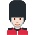 Guard: Light Skin Tone on Twitter Twemoji 12.1.5