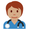 Health Worker: Medium Skin Tone on Twitter Twemoji 12.1.5