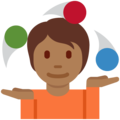Person Juggling: Medium-Dark Skin Tone on Twitter Twemoji 12.1.5