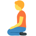 Person Kneeling on Twitter Twemoji 12.1.5