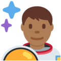 Man Astronaut: Medium-Dark Skin Tone on Twitter Twemoji 12.1.5