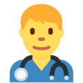 Man Health Worker on Twitter Twemoji 12.1.5