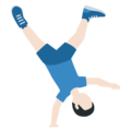 Man Cartwheeling: Light Skin Tone on Twitter Twemoji 12.1.5