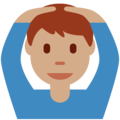 Man Gesturing OK: Medium Skin Tone on Twitter Twemoji 12.1.5