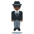 Person in Suit Levitating: Dark Skin Tone on Twitter Twemoji 12.1.5