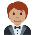 Person in Tuxedo: Medium Skin Tone on Twitter Twemoji 12.1.5