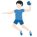 Man Playing Handball: Light Skin Tone on Twitter Twemoji 12.1.5