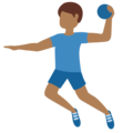 Man Playing Handball: Medium-Dark Skin Tone on Twitter Twemoji 12.1.5