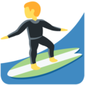 Man Surfing on Twitter Twemoji 12.1.5