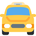 Oncoming Taxi on Twitter Twemoji 12.1.5