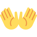 Open Hands on Twitter Twemoji 12.1.5