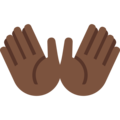 Open Hands: Dark Skin Tone on Twitter Twemoji 12.1.5