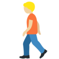 Person Walking: Medium-Light Skin Tone on Twitter Twemoji 12.1.5