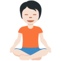 Person in Lotus Position: Light Skin Tone on Twitter Twemoji 12.1.5