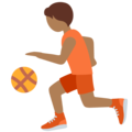 Person Bouncing Ball: Medium-Dark Skin Tone on Twitter Twemoji 12.1.5