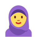 Woman with Headscarf on Twitter Twemoji 12.1.5