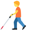 Person with Probing Cane on Twitter Twemoji 12.1.5
