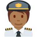 Pilot: Medium-Dark Skin Tone on Twitter Twemoji 12.1.5