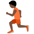 Person Running: Dark Skin Tone on Twitter Twemoji 12.1.5