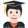 Student: Light Skin Tone on Twitter Twemoji 12.1.5