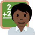 Teacher: Dark Skin Tone on Twitter Twemoji 12.1.5