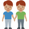 Men Holding Hands: Medium Skin Tone on Twitter Twemoji 12.1.5