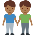 Men Holding Hands: Medium-Dark Skin Tone on Twitter Twemoji 12.1.5