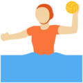Person Playing Water Polo: Medium-Light Skin Tone on Twitter Twemoji 12.1.5