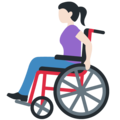 Woman in Manual Wheelchair: Light Skin Tone on Twitter Twemoji 12.1.5