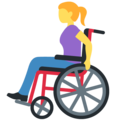 Woman in Manual Wheelchair on Twitter Twemoji 12.1.5