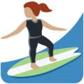 Woman Surfing: Medium Skin Tone on Twitter Twemoji 12.1.5