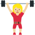 Woman Lifting Weights: Medium-Light Skin Tone on Twitter Twemoji 12.1.5