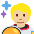 Astronaut: Medium-Light Skin Tone on Twitter Twemoji 13.0