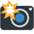 Camera with Flash on Twitter Twemoji 13.0
