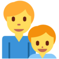 Family: Man, Boy on Twitter Twemoji 13.0